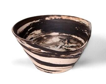 Sliced Marbled Ceramic Bowl