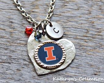 University of Illinois, U of Illinois, Fighting Illini Necklace