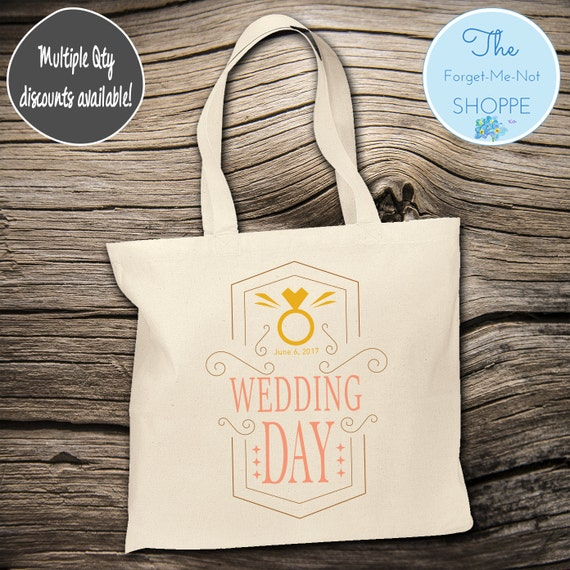 Wedding Day Wedding Tote Bag ~ Bride to Be tote bag, Nautical, bachelorette ,Mother,  party tote, Wedding Favor, Gift Tote