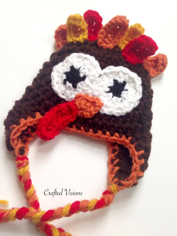 Pattern crochet turkey hat pattern turkey hat all sizes zoom bankloansurffo Gallery