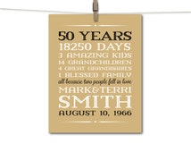 parents anniversary gift 50 year golden anniversary gift 50th wedding ...