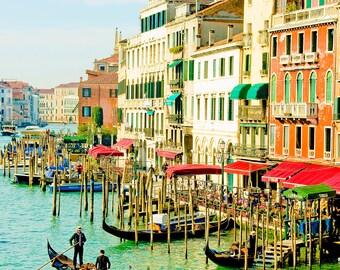 Venice, Italy Photography - Travel, Venice, Romantic Wall Art - Venice Grand Canal - 8x10