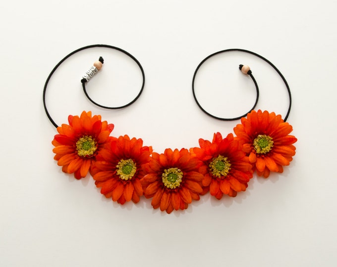 Orange Daisy Flower Crown