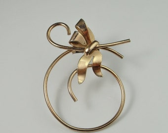 Art Deco Brooch Gatsby Jewelry Fur Clip Vermeil Sterling Silver 1920s 1930s 1940s Bow Brooch Bow Jewelry Art Deco Jewelry Antique Brooch