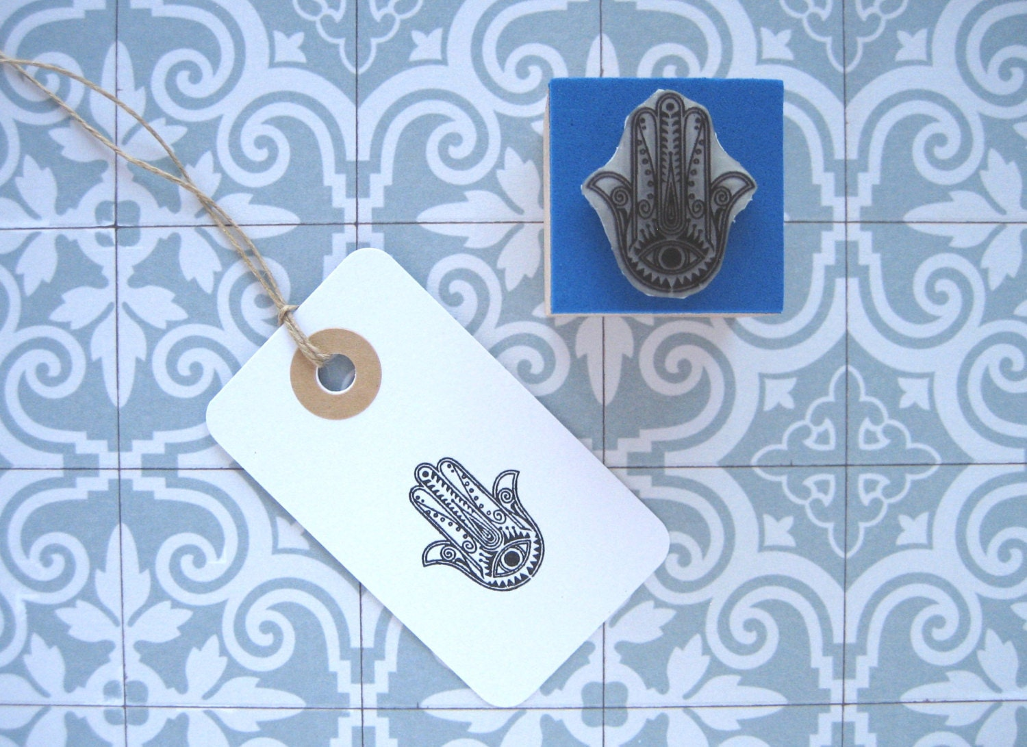 HAMSA Rubber Stamp. Fatima Hand, Khamsa, Hand of Mary ...