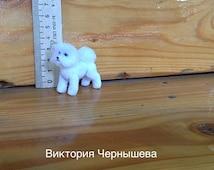 OOAK miniature 1:12 dog BICHON FRISE,Bichon Frise,miniature Dollhouse,miniature ,dolls & accessories, Dollhouse realistic dog