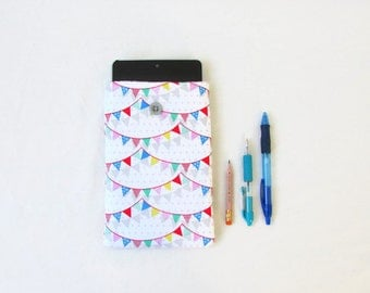 Bunting print Kindle case, handmade in the UK