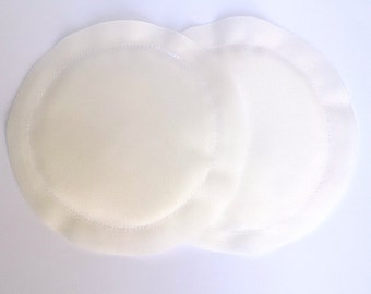 Reusable Nursing Pads, Breast Pads, Heavy Absorbency, No Show, Breastfeeding Gift, White