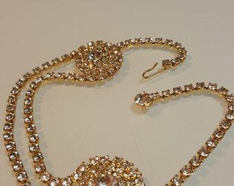 FREE  SHIPPING    1950  Diamond Rhinestone Necklace