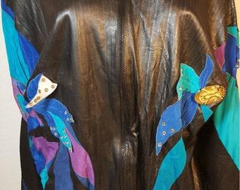 FREE  SHIPPING Vintage Designer Leather Jacket