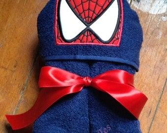 Spider Hero Bath Towel, Hooded Towel, Kids Towel, Handtowel