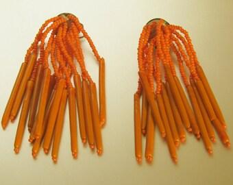 Vintage earrings Pendants, Murano beads. Perfect for summer