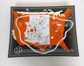 Vintage Arizona State Kitsch Funny Souvenir Trinket Tray or Ashtray