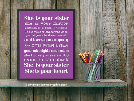 25 Best Ideas About Christmas Quotes For Friends On: Best Friend Sister Gift Idea She Is Your Sister Sister