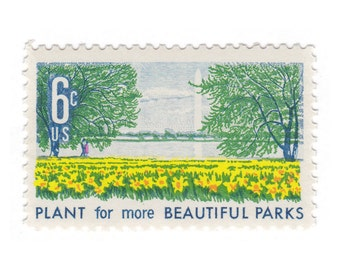1969 6c Beautification of America Series - Buttercups - 10 Unused Vintage Postage Stamps - Item No. 1366