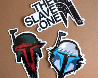 Boba, Jango and The Slave One - 3 sticker pack!