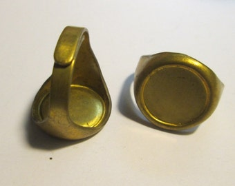 2 Brass Adjustable Ring Blanks