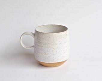 Coffee Mug - * READY TO SHIP * - Handmade Pottery Mug - Modern Handmade Ceramic Mug- White Mugs - Rustic - Unique Coffee Mug