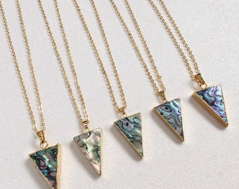 Triangle Abalone Shell Necklace
