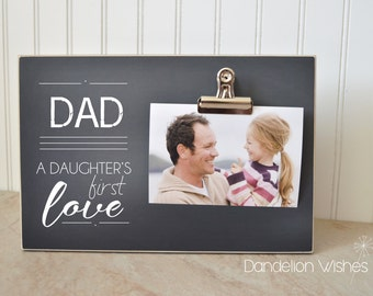 A Daughter's First Love Photo Frame, Father's Day Gift For Dad, Father And Daughter Gifts, Wood Picture Frame, Desk Decor, Gifts For Men