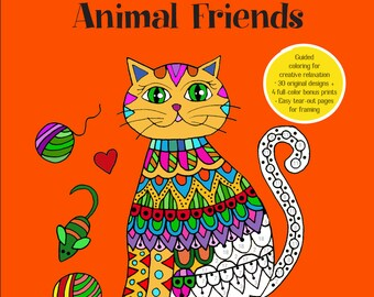 I Sassi dell'Adriatico - Sehnaz BAC Coloring BOOK - Brilliantly Vivid Color by number - Animal Friends (Signed by Author)