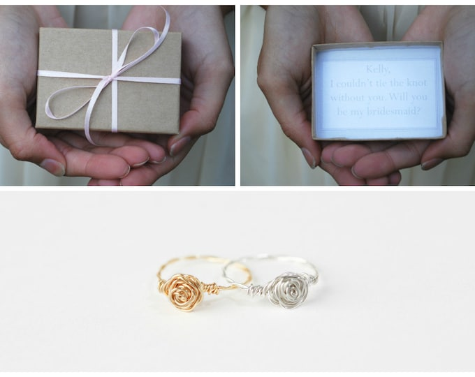Will You Be My Bridesmaid Box With Knot Ring