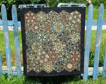 Kaleidoscope Quilt // Botanical Quilt // Art Quilt // Wall Quilt // One of a kind Quilt // Colorful Quilt // Rich Color Quilt