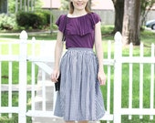 Gingham Skirt: Giddy In Gingham