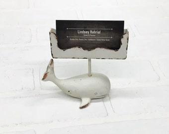 Business Card Holder/Whale Business Card Holder/Beach Office Decor/Desk Decor/SSLID0304/Card Holder/Nautical/Gift Idea/Business/Office/