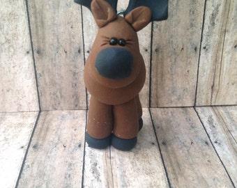 Reindeer Ornament, Moose christmas ornament, Reindeer, Moose