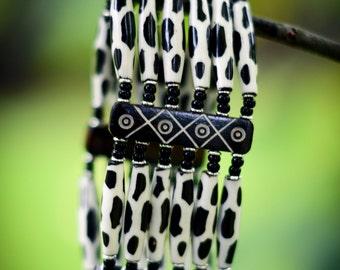 Animal Print Beaded Bracelet Handmade in Kenya