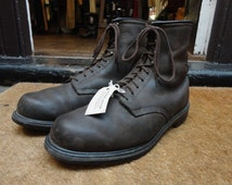 Vintage dark brown oiled leather Red Wing 1210 lace up boots workwear US 13 UK 12 wide fit made in USA