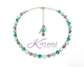SPRING HAS SPRUNG! 8MM Crystal Necklace *Collaboration Series *Swarovski Elements *Pick Your Finish *Karnas Design Studio *Free Shipping*