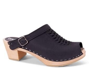 Womens Clogs / Strap Leather Sandal / Womens Sandals / Strap Sandals / Summer Shoe / Handmade Sandals for Women / Sandgrens / Josie Peep Toe