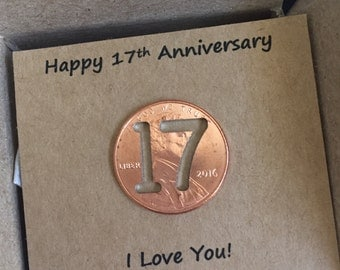 17th anniversary gifts for him