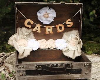 Wedding Card Holder Rustic Card Holder Wedding Card Trunk Shabby Chic Wedding Card Box Wedding Card Suitcase Rustic Wedding Card Holder