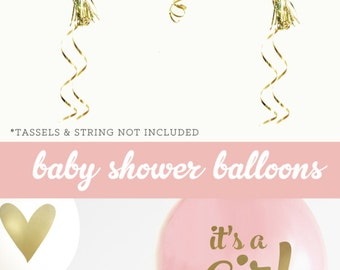 Baby Shower Decorations Girl Baby Shower Ideas - Baby Announcement Gift - Baby Announcement Pregnancy Gift (EB3110BBY) - SET of 3 Balloons