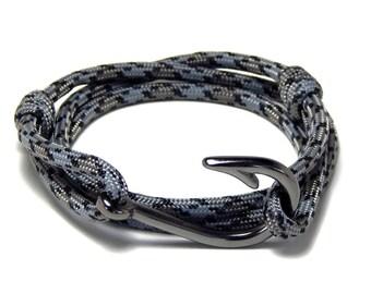 Nautical fish hook bracelet adjustable