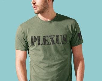 Plexus Mens Crewneck - Military Green - Plexus Army 2027633302015AO