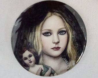 Girl Glass Cabochon,25mm