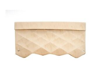 Eco Leather CLUTCH Evening Clutch MODERN CLUTCH Origami