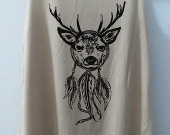 Deer Dream Catcher Cat Shirt Cat Karfield Tshirt Animal Shirt tshirt Women Shirt Tank Top Women T-Shirt Tunic Top Vest Size S,M,L