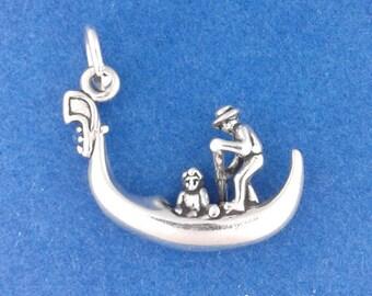 GONDOLA Charm .925 Sterling Silver, Venice Italy Pendant - lp2728