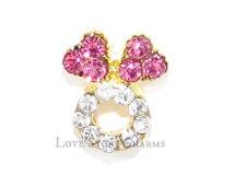 Rhinestone Heart Wedding Ring Floating Charm For Memory Locket Neckalce Or Bracelet /Wedding / Bridal / Bride Groom / Fits Origami
