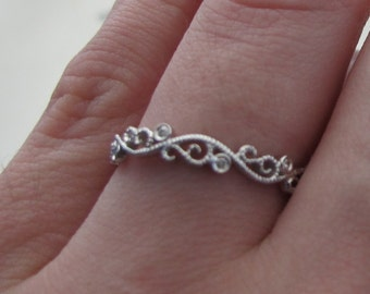 Diamond Filigree Wedding Band