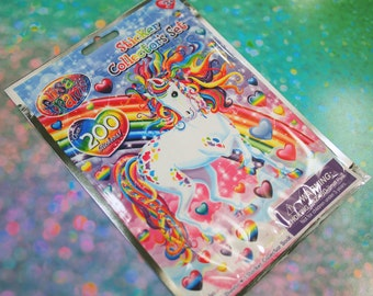 Lisa Frank Unicorn Sticker Collectors Set / Lisa Frank Stickers Over 200 Stickers / 90s Lisa Frank Sticker Sheets and Sticker Collector Book