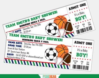Sports Baby Shower Invites All Star Baby Shower Invitation