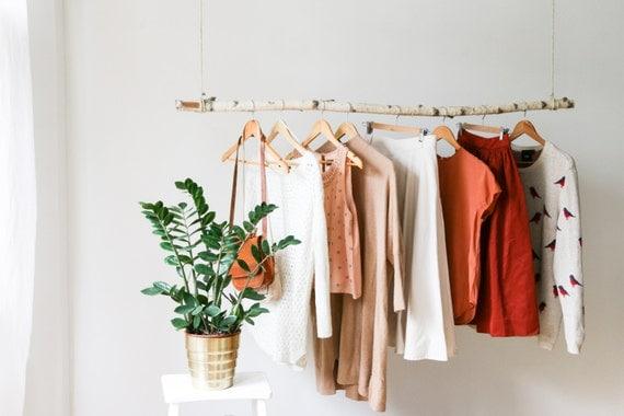 Hanging branch clothing rack for Colgadores de ropa de pared