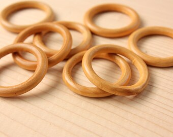 Ring Wood Beads, 10pcs Large Wooden Beads, (40mm x 6mm) Cream Wood Bead, Donut Natural Wood Beads, Craft Wood Beads, Wooden Beads