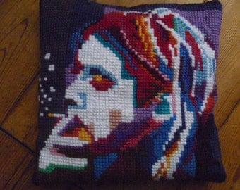 Kurt Cobain (Nirvana) embroidered cushion